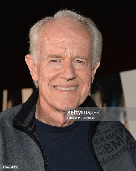 Actor Mike Farrell attends a screening of Sundance Channel's 'The Red Road' at The Bronson Caves at Griffith Park on February 24 2014 in Los Angeles...