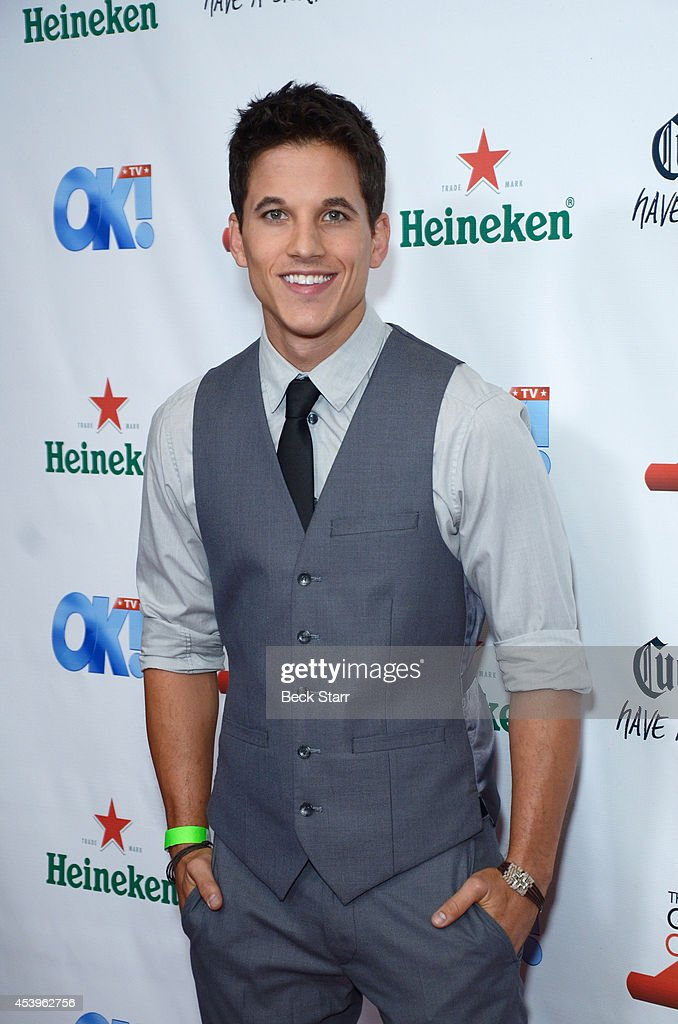 Actor Mike Manning arrives at OK! TV Emmy pre-awards party honoring the Emmy nominees and presenters at Sofitel Hotel on August 21, 2014 in Los Angeles, California.