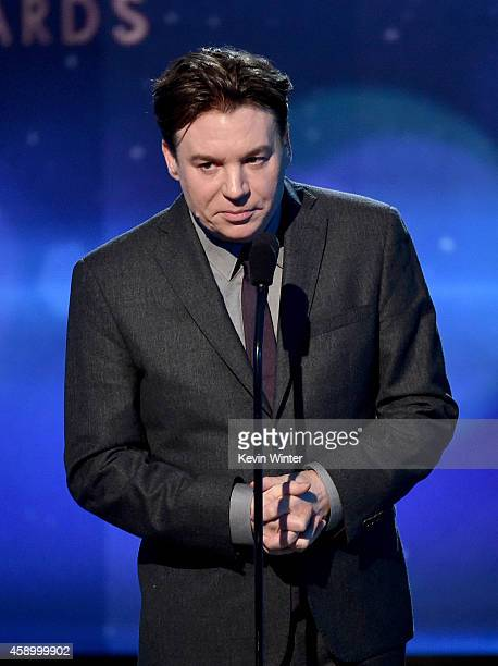 Actor Mike Myers accepts the Hollywood Documentary Award for 'Supermensch The Legend of Shep Gordon' onstage during the 18th Annual Hollywood Film...