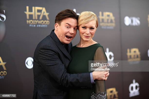 Actor Mike Myers and Kelly Tisdale attend the 18th Annual Hollywood Film Awards at The Palladium on November 14 2014 in Hollywood California
