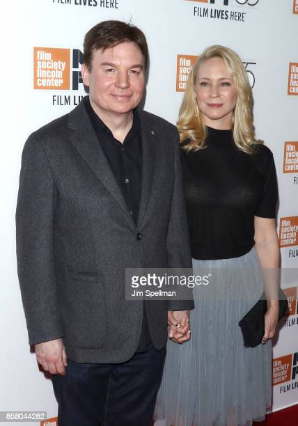 Actor Mike Myers and Kelly Tisdale attend the 55th New York Film Festival 'Spielberg' premiere at Alice Tully Hall on October 5 2017 in New York City