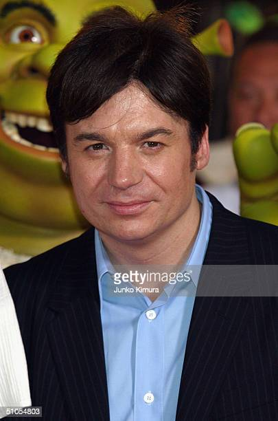 Actor Mike Myers attends a redcarpet event to promote 'Shrek 2' on July 13 2004 in Tokyo Japan The film opens on July 24 in Japan