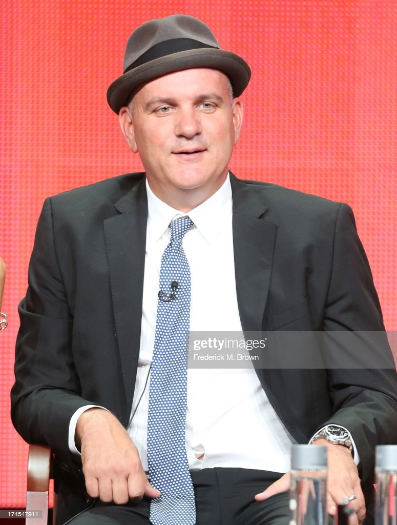Actor Mike O'Malley speaks onstage during the 'Welcome to the Family' panel discussion at the NBC portion of the 2013 Summer Television Critics Association tour - Day 4 at the Beverly Hilton Hotel on July 27, 2013 in Beverly Hills, California.