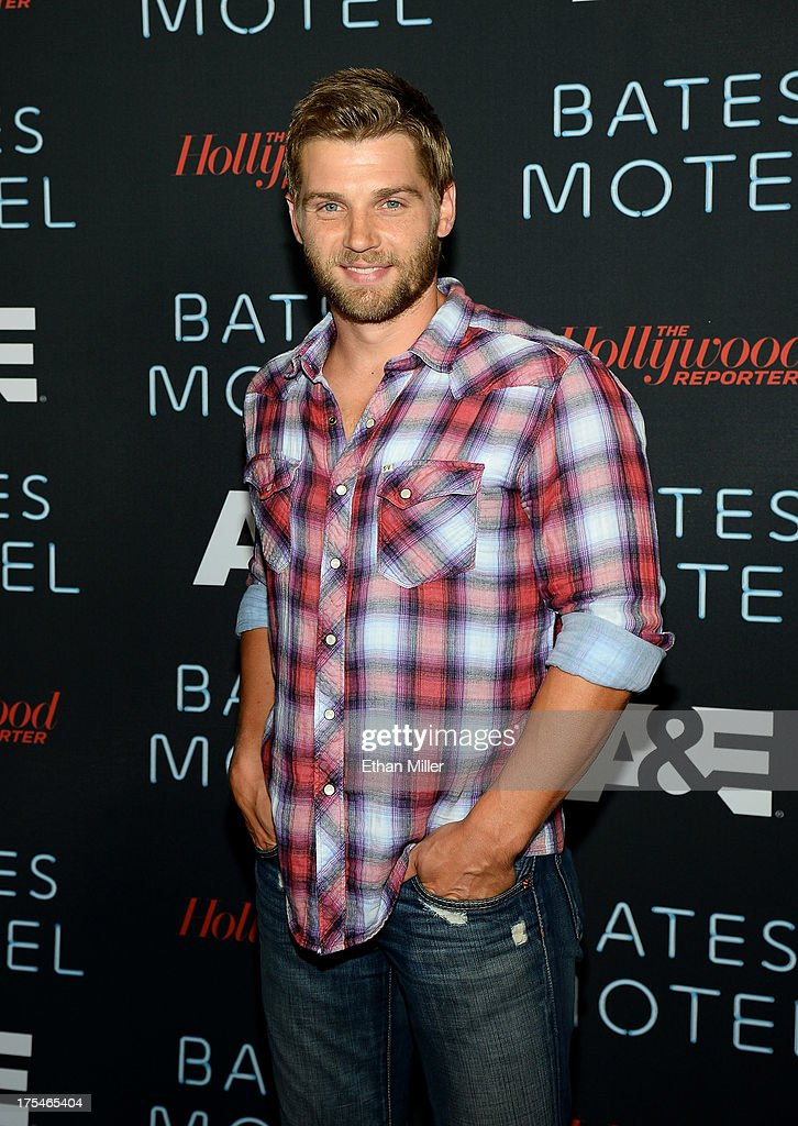 Actor <a gi-track='captionPersonalityLinkClicked' href=/galleries/search?phrase=Mike+Vogel&family=editorial&specificpeople=601802 ng-click='$event.stopPropagation()'>Mike Vogel</a> attends A&E's 'Bates Motel' party during Comic-Con International 2013 at Gang Kitchen on July 20, 2013 in San Diego, California.
