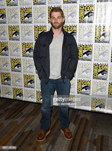 Actor Mike Vogel attends the CBS Television Studios press room during ComicCon International 2015 at the Hilton Bayfront on July 9 2015 in San Diego...