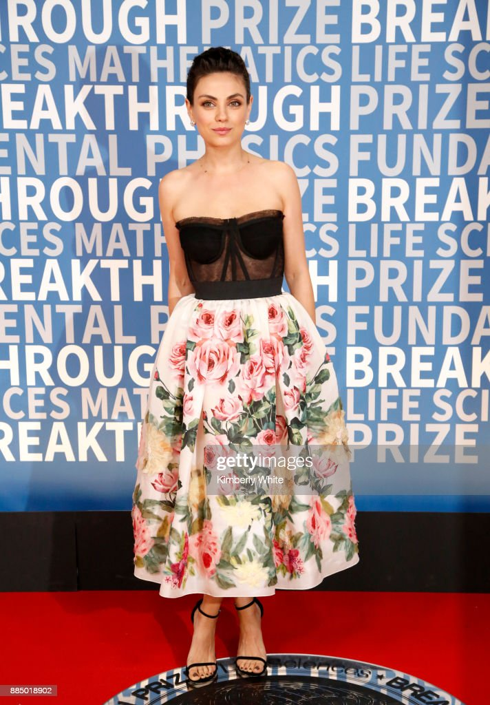 Actor Mila Kunis attends the 2018 Breakthrough Prize at NASA Ames Research Center on December 3, 2017 in Mountain View, California.