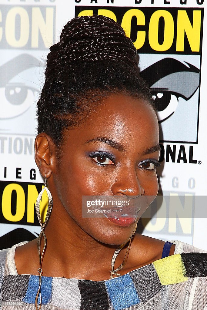 Actor Milauna Jackson attends the Strike back press line at Comic-Con International 2013 - Day 1 on July 18, 2013 in San Diego, California.