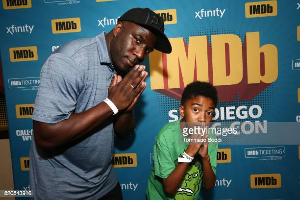 Actor Miles Brown and dad attend the #IMDboat Party at San Diego ComicCon 2017 Presented By XFINITY on The IMDb Yacht on July 21 2017 in San Diego...