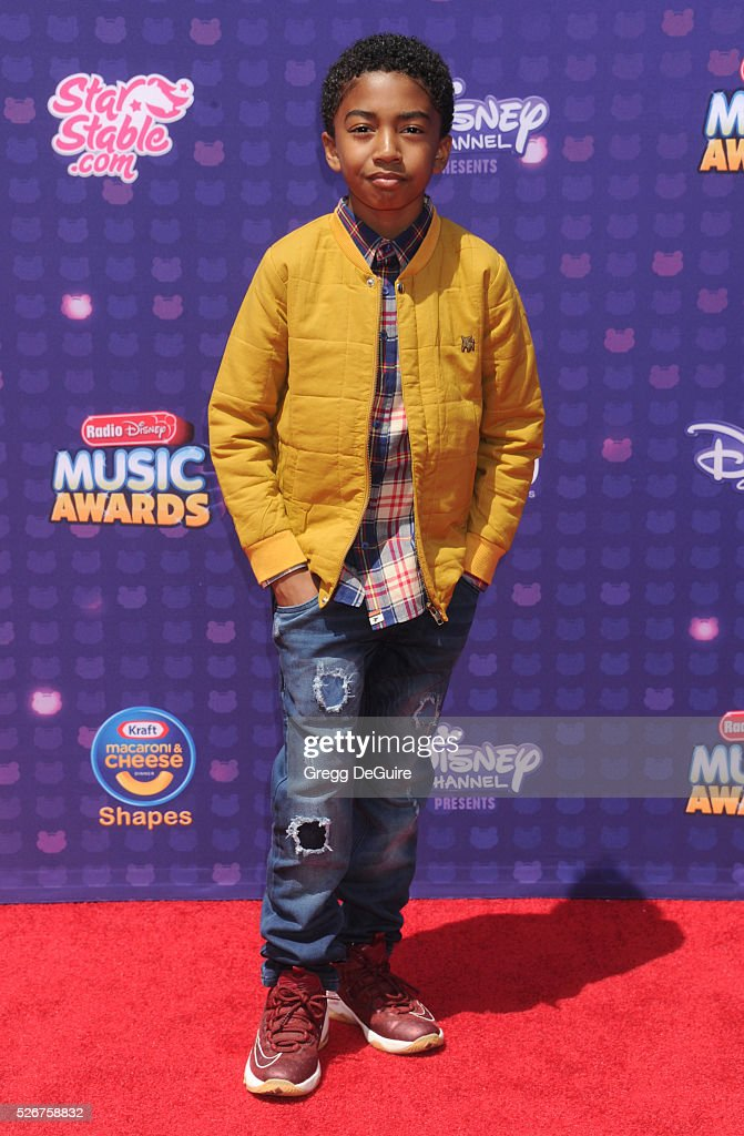 Actor Miles Brown arrives at the 2016 Radio Disney Music Awards at Microsoft Theater on April 30, 2016 in Los Angeles, California.