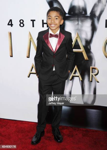 Actor Miles Brown arrives at the 48th NAACP Image Awards at Pasadena Civic Auditorium on February 11 2017 in Pasadena California
