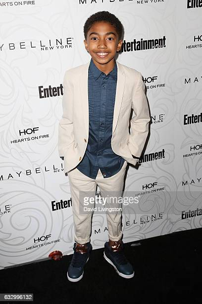 Actor Miles Brown arrives at the Entertainment Weekly celebration honoring nominees for The Screen Actors Guild Awards at the Chateau Marmont on...