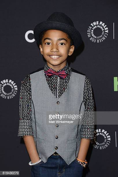 Actor Miles Brown arrives at The Paley Center For Media's 33rd Annual PALEYFEST Los Angeles ÒBlackish' at Dolby Theatre on March 13 2016 in Hollywood...