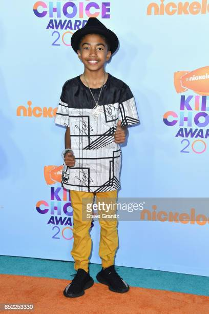 Actor Miles Brown at Nickelodeon's 2017 Kids' Choice Awards at USC Galen Center on March 11 2017 in Los Angeles California