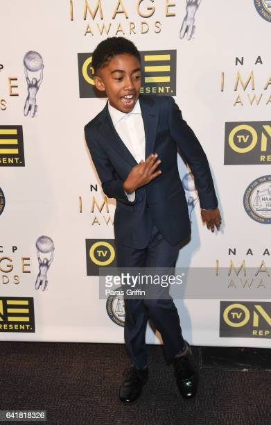 Actor Miles Brown attends 48th NAACP Image Dinner at Pasadena Convention Center on February 10 2017 in Pasadena California
