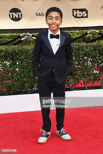 Actor Miles Brown attends the 23rd Annual Screen Actors Guild Awards at The Shrine Expo Hall on January 29 2017 in Los Angeles California