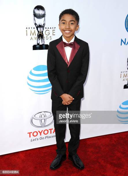 Actor Miles Brown attends the 48th NAACP Image Awards at Pasadena Civic Auditorium on February 11 2017 in Pasadena California