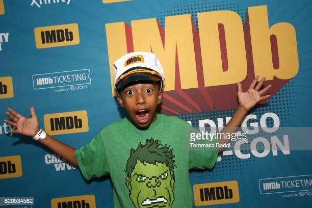 Actor Miles Brown attends the #IMDboat Party at San Diego ComicCon 2017 Presented By XFINITY on The IMDb Yacht on July 21 2017 in San Diego California