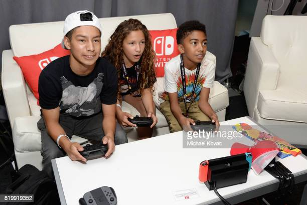 Actor Miles Brown from the television series 'Blackish' stopped by Nintendo at the TV Insider Lounge to check out Nintendo Switch during ComicCon...