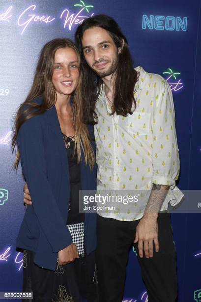 Actor Miles JorisPeyrafitte and guest attend The New York premiere of 'Ingrid Goes West' hosted by Neon at Alamo Drafthouse Cinema on August 8 2017...