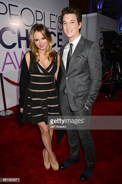 Actor Miles Teller and guest attend The 40th Annual People's Choice Awards at Nokia Theatre LA Live on January 8 2014 in Los Angeles California