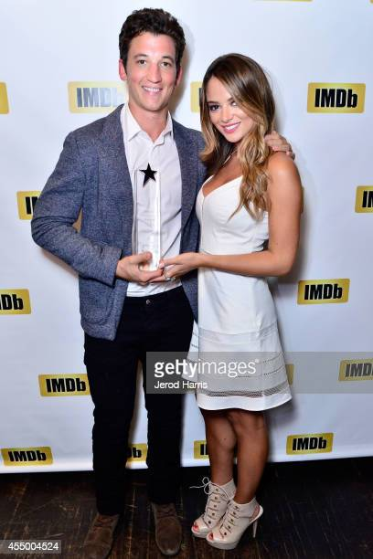 Actor Miles Teller and Keleigh Sperry attend IMDb's 2014 STARmeter award at IMDb's Annual TIFF Dinner Party on September 8 2014 in Toronto Canada