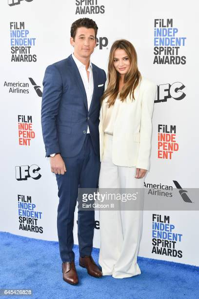 Actor Miles Teller and Keleigh Sperry attend the 2017 Film Independent Spirit Awards on February 25 2017 in Santa Monica California