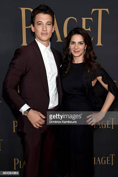 Actor Miles Teller and Marketing/Communications Director Piaget SA Chabi Nouri attend the 30th Annual Film Independent Spirit Awards at Santa Monica...