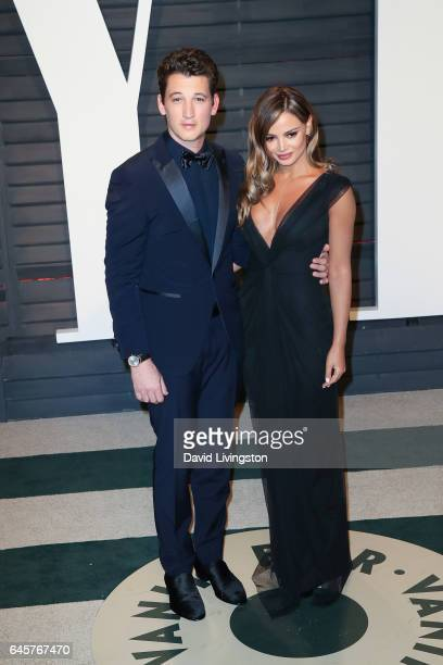 Actor Miles Teller and model Keleigh Sperry attend the 2017 Vanity Fair Oscar Party hosted by Graydon Carter at the Wallis Annenberg Center for the...