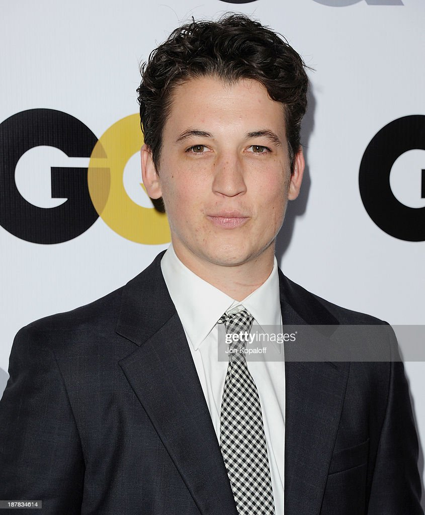 Actor Miles Teller arrives at GQ Celebrates The 2013 'Men Of The Year' at The Wilshire Ebell Theatre on November 12, 2013 in Los Angeles, California.