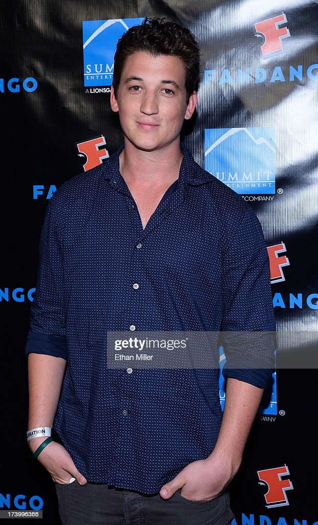 Actor Miles Teller arrives at Summit Entertainment's press event for the movies 'Ender's Game' and 'Divergent' at the Hard Rock Hotel San Diego on July 18, 2013 in San Diego, California.
