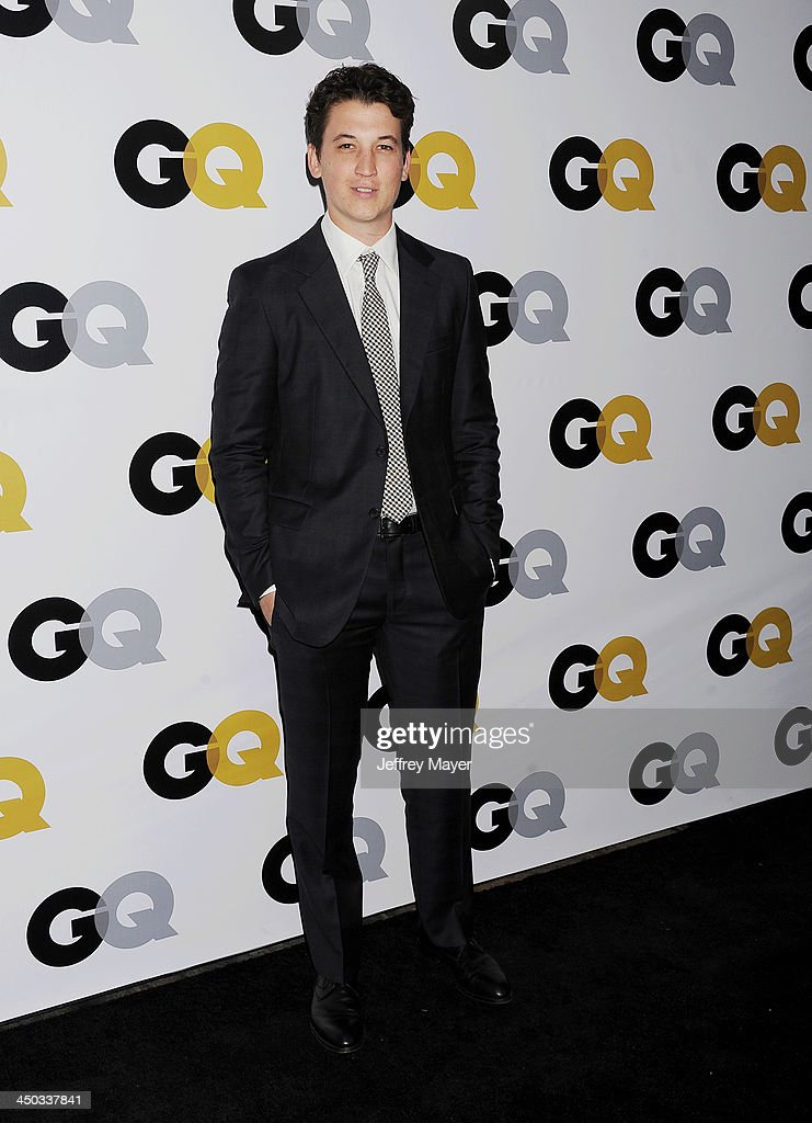 Actor Miles Teller arrives at the 2013 GQ Men Of The Year Party at The Ebell of Los Angeles on November 12, 2013 in Los Angeles, California.