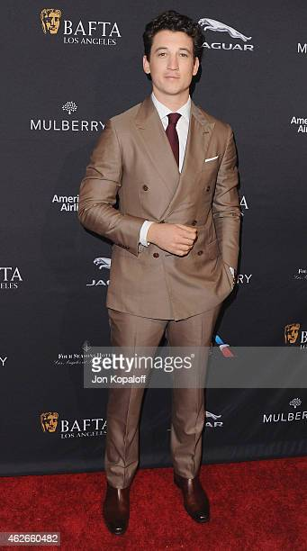 Actor Miles Teller arrives at the 2015 BAFTA Tea Party at The Four Seasons Hotel on January 10 2015 in Beverly Hills California
