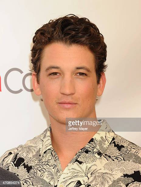 Actor Miles Teller arrives at the 2015 CinemaCon Twentieth Century Fox Presentation at Caesar's Palace Resort and Casino on April 23 2015 in Las...