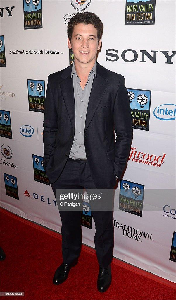 Actor Miles Teller arrives at the Napa Valley Film Festival Celebrity Tribute on November 15, 2013 in Napa, California.