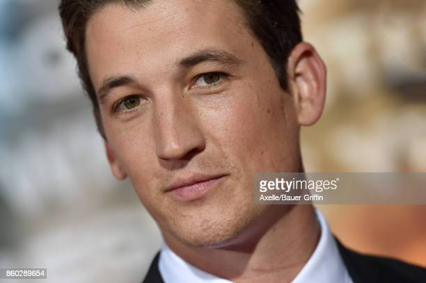 Actor Miles Teller arrives at the premiere of 'Only the Brave' at Regency Village Theatre on October 8 2017 in Westwood California