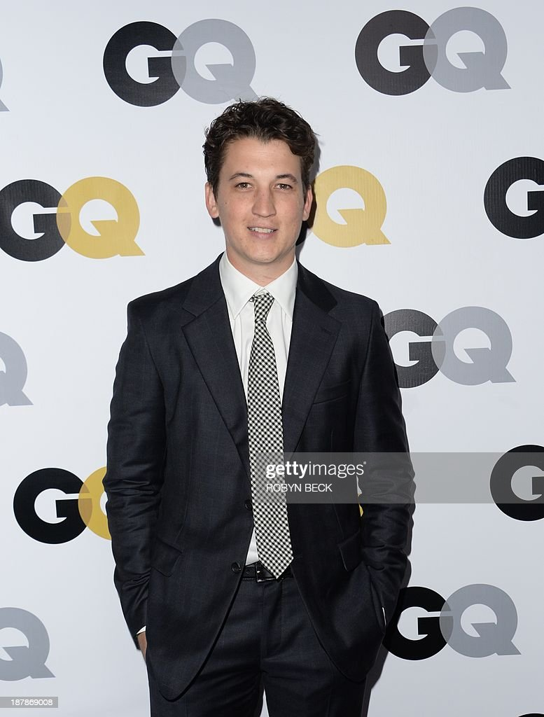 Actor Miles Teller arrives for the 18th annual GQ Men of the Year Party at the Ebell of Los Angeles, November 12, 2013 in Los Angeles, California.