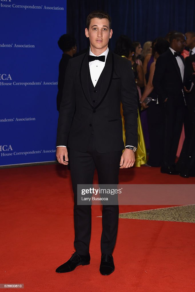 Actor <a gi-track='captionPersonalityLinkClicked' href=/galleries/search?phrase=Miles+Teller&family=editorial&specificpeople=6471673 ng-click='$event.stopPropagation()'>Miles Teller</a> attends the 102nd White House Correspondents' Association Dinner on April 30, 2016 in Washington, DC.