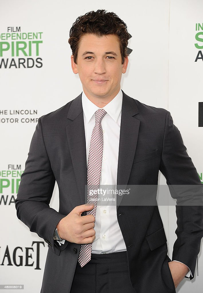 Actor <a gi-track='captionPersonalityLinkClicked' href=/galleries/search?phrase=Miles+Teller&family=editorial&specificpeople=6471673 ng-click='$event.stopPropagation()'>Miles Teller</a> attends the 2014 Film Independent Spirit Awards on March 1, 2014 in Santa Monica, California.