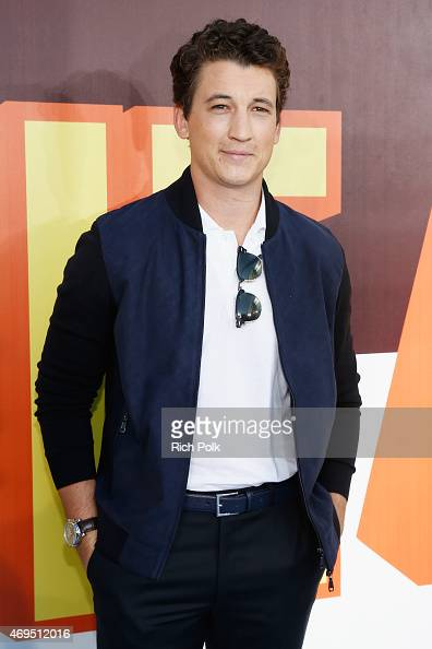Actor Miles Teller attends The 2015 MTV Movie Awards at Nokia Theatre LA Live on April 12 2015 in Los Angeles California