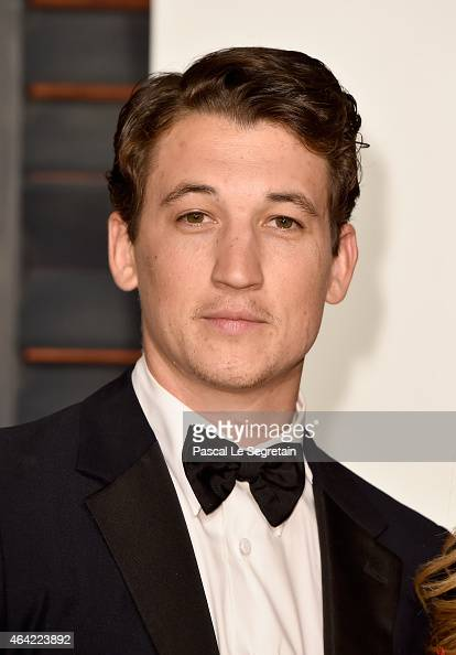 Actor Miles Teller attends the 2015 Vanity Fair Oscar Party hosted by Graydon Carter at Wallis Annenberg Center for the Performing Arts on February...