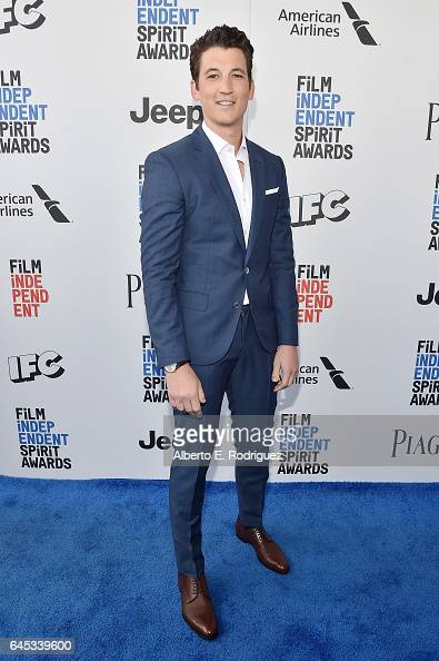 Actor Miles Teller attends the 2017 Film Independent Spirit Awards at the Santa Monica Pier on February 25 2017 in Santa Monica California