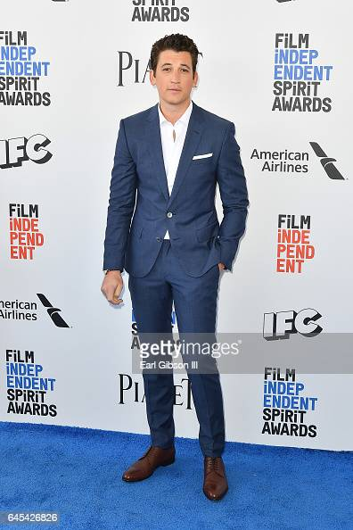 Actor Miles Teller attends the 2017 Film Independent Spirit Awards on February 25 2017 in Santa Monica California