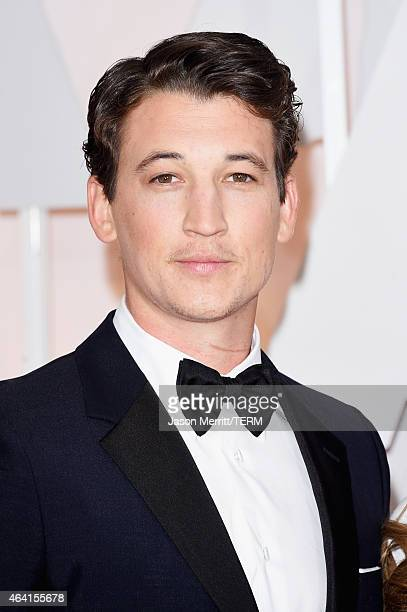 Actor Miles Teller attends the 87th Annual Academy Awards at Hollywood Highland Center on February 22 2015 in Hollywood California