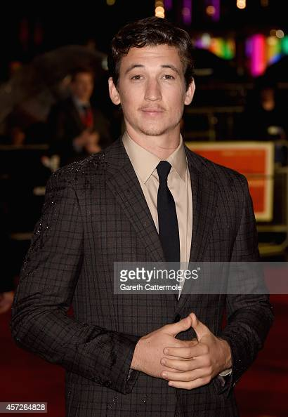 Actor Miles Teller attends the Accenture Gala premiere for 'Whiplash' during the 58th BFI London Film Festival at Odeon Leicester Square on October...