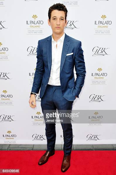Actor Miles Teller attends the GBK PreOSCAR Luxury Lounge on February 25 2017 in Beverly Hills California