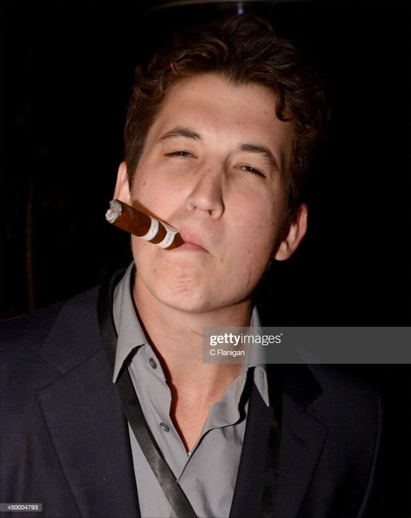 Actor <a gi-track='captionPersonalityLinkClicked' href=/galleries/search?phrase=Miles+Teller&family=editorial&specificpeople=6471673 ng-click='$event.stopPropagation()'>Miles Teller</a> attends The Hollywood Reporter After Party at the Napa Valley Film Festival Celebrity Tribute on November 15, 2013 in Napa, California.