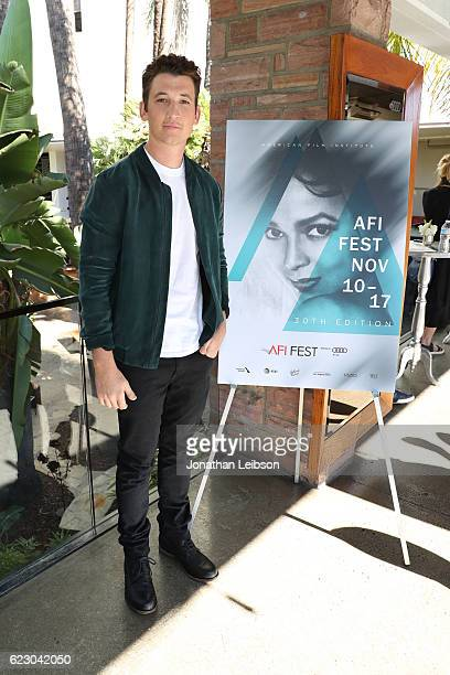 Actor Miles Teller attends the Indie Contenders Reception hosted in the Audi Sky Lounge at AFI Fest 2016 presented by Audi at Hollywood Roosevelt...