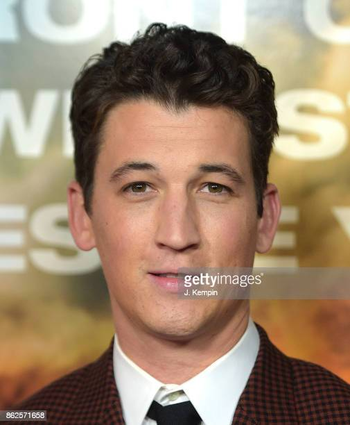 Actor Miles Teller attends the 'Only The Brave' New York Screening at iPic Theater on October 17 2017 in New York City