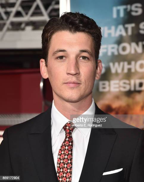 Actor Miles Teller attends the premiere of Columbia Pictures' 'Only The Brave' at the Regency Village Theatre on October 8 2017 in Westwood California