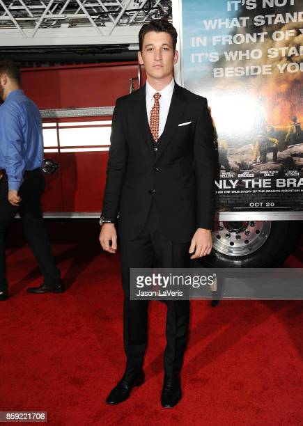Actor Miles Teller attends the premiere of 'Only the Brave' at Regency Village Theatre on October 8 2017 in Westwood California